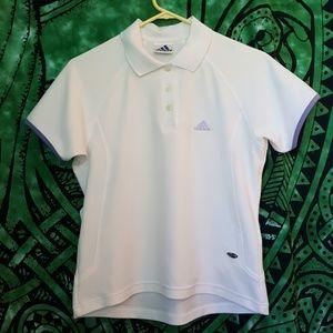 Vintage White Adidas Polo